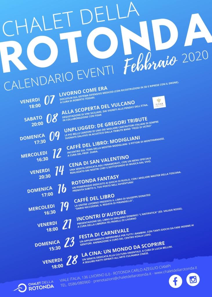 Eventi Febbraio Livorno Chalet della Rotonda